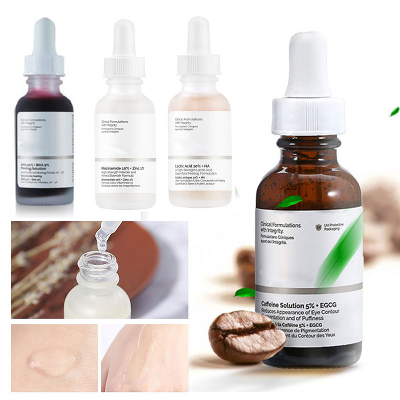 30ml The Ordinary Peeling Serum AHA 30%+ BHA 2% 10min Facial Peeling Solution Remove Acne Scars Whitening Wrinkles Serum