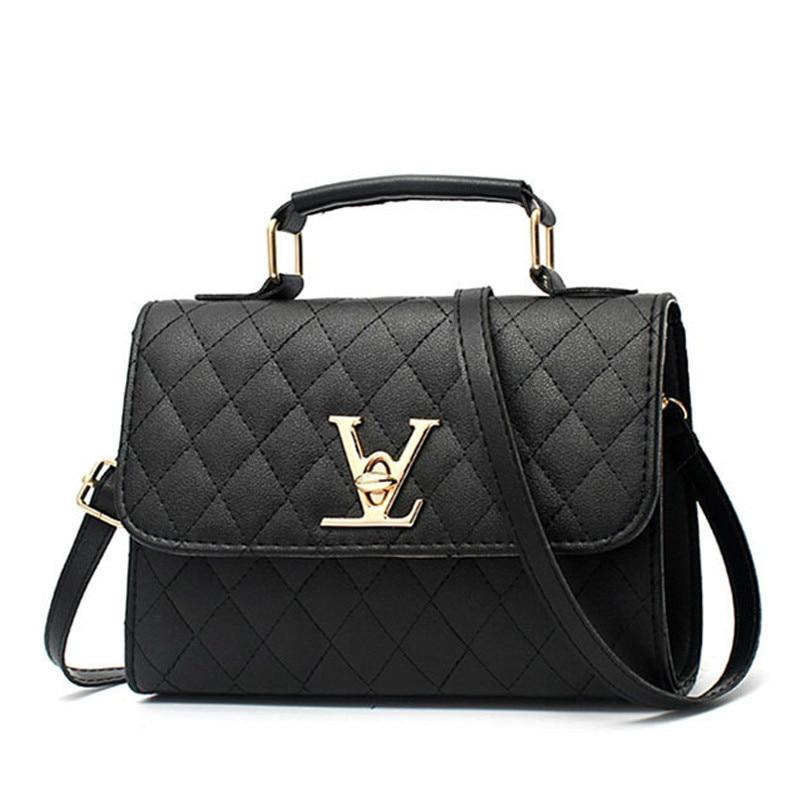 2019 Fashion Leather Small V Style Luxury Handbags Women Bags Designer Crossbody For Famous Brands Messenger Bags Louis Bolsa