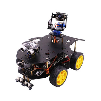 Yahboom 4 génération 4B/3B + voiture Robot 4WD AI vidéo Programmable Kit de voiture RC avec caméra WIFI