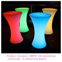 D60XH110 см со светодиодной подсветкой коктейльный столик перезаряжаемый журнальный столик для бара рождественские вечерние коктейльные столы