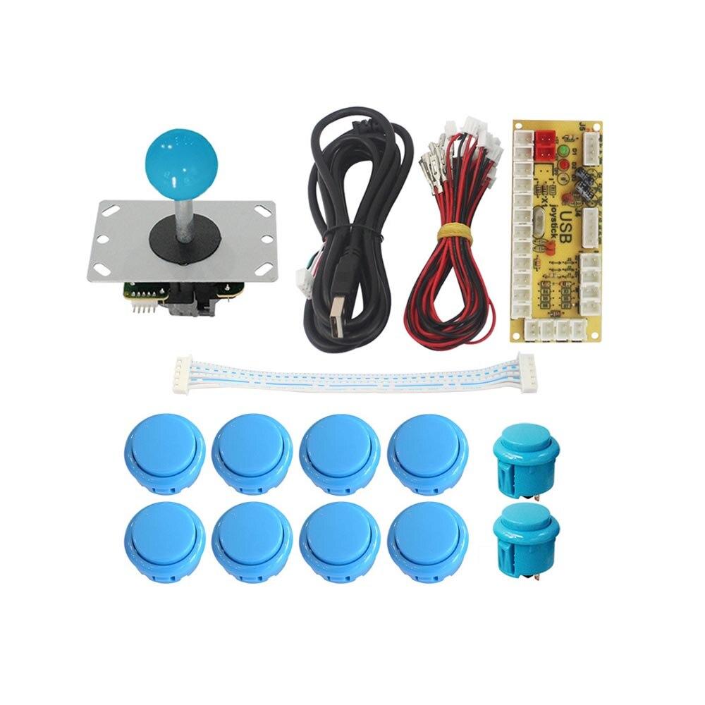 Arcade Joystick DIY Kit Zero Delay Arcade DIY Kit USB Encoder To PC PS3 Arcade Sanwa Joystick And Push Buttons For Arcade Mame