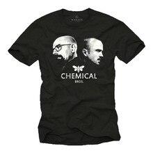 T-shirts do bad heisenberg herren de cooles mit que quebra os bros químicos. -Manner camisa masculina verão manga curta t camisa