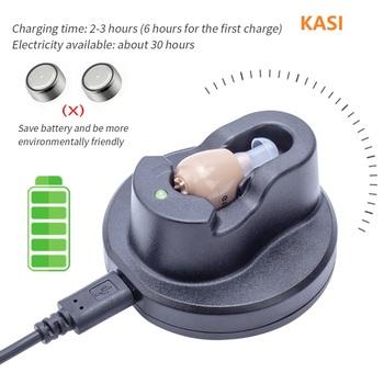 Nowy Mini akumulator aparat słuchowy cyfrowy aparat słuchowy s regulowany dźwięk wzmacniacz dźwięku przenośny głuchy starszy cyfrowy aparat słuchowy tanie i dobre opinie KASI