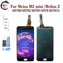 LCD pour Meizu M2 mini LCD M2mini écran daffichage tactile numériseur assemblée Meilan 2 meilan2 M578M M578U M578H M578 M578CA affichage