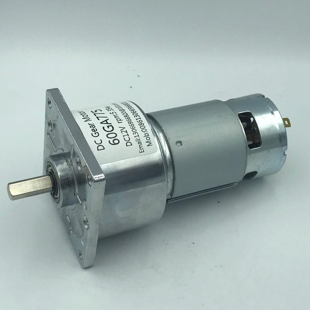 DC12//24V 35W 60GA775 Gear Motor Adjustable Speed with Square Flange Plate Gearbo