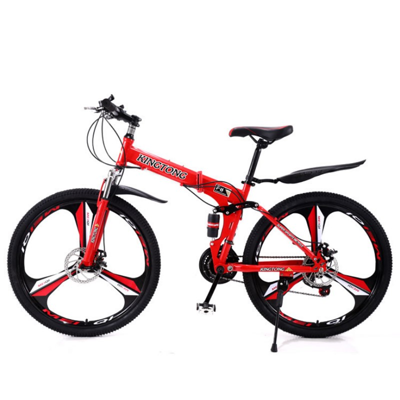 26 inch folding mountain bike city comfortable student variable speed cross country double shock absorption disc brake bikeG8968 image
