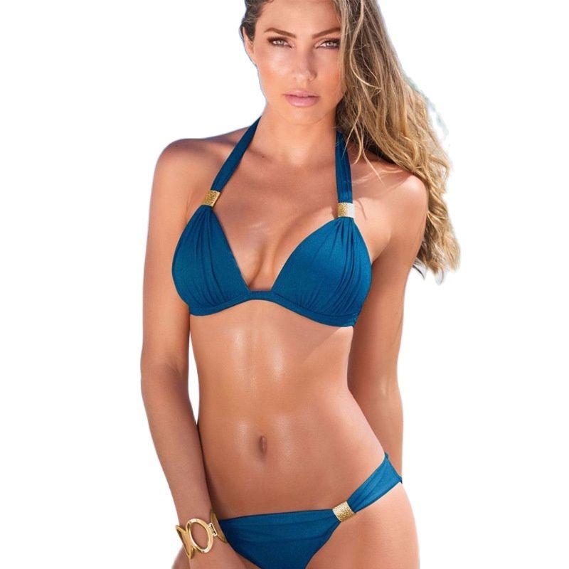Sexy Bikini 2021 Swimsuit Set Swimwear Women Padded Thong Bathing Suit Wear Brazilian Swimming Bath Summer Holiday for Lady|Bikini Set|   - AliExpress