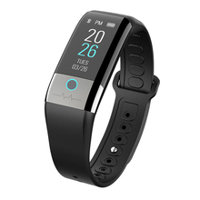 цена на ECG PPG Smart Band Watch Men Fitness Activity Tracker Blood Pressure Heart Rate Monitor Smart Bracelet for Android IOS Phone
