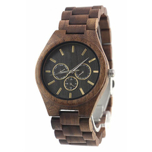 High Quality Valentines Gift Wristwatach Best Sellers Designer Luxury Dress Men 3 Eye Day Date Walnut Wood Watches for Him cheap skymood 7inch Fashion Casual QUARTZ No waterproof Bracelet Clasp Wooden 10 8mm Hardlex Paper 45mm 18FWA10-2 24mm ROUND