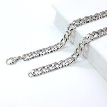 NEW Men's hip-hop stainless steel punk rock bracelet Cuban brake chain men's bracelet women's jewelry Simple Style hand chain 6 3