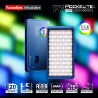 Falcon Eyes 12W Mini bolsillo RGB Luz LED en cámara portátil para vídeo/estudio/Youtube/Vlog fotografía iluminación Fill lámpara F7