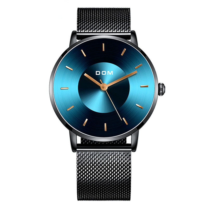 DOM Watch Men 2019 New Top Brand Luxury Quartz Watches Casual Stainless Steel Mesh Strap Quartz Clock Relogios Masculino
