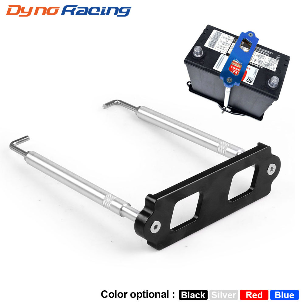 Battery Tie Down Kit Hold Down Rod With Stainless Tray Hooks For Honda Civic / CRX S2000 For Acura Integra RSX Without Logo