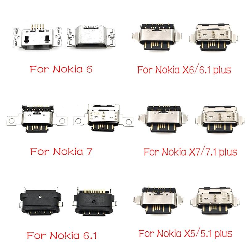 5pcs/lot For Nokia 3 6 7 Plus 8 6.1 7.1 5.1 Plus X5 X6 X7 Micro Usb Connector Charging Port Jack
