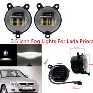 Image 5 - 2PCS 4Inch Round Led Fog Lights 30W 6000K White Halo Ring DRL Off Road Fog Lamps For Jeep Wrangler JK TJ LJ Grand Cherokee lada