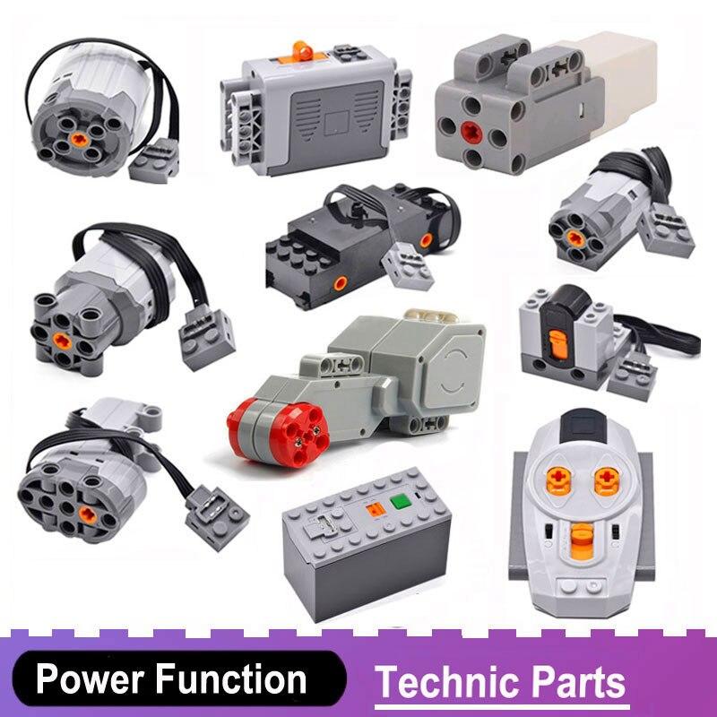 Technic Power Function Motors Compatible All Brands Toys Servo Motor Blocks Battery Box Train Electric PF Model Building Kits