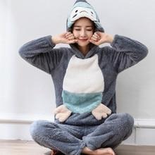 Фланелевые пижамные комплекты большого размера S 4XL, 6XL, зимний женский толстый пижамный комплект с круглым вырезом и рисунком из кораллового флиса для отдыха