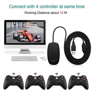 Image 5 - Dla konsoli Xbox 360 Gamepad Adapter PC czarny USB odbiornik obsługuje dla Microsoft Wireless Xbox360 kontroler