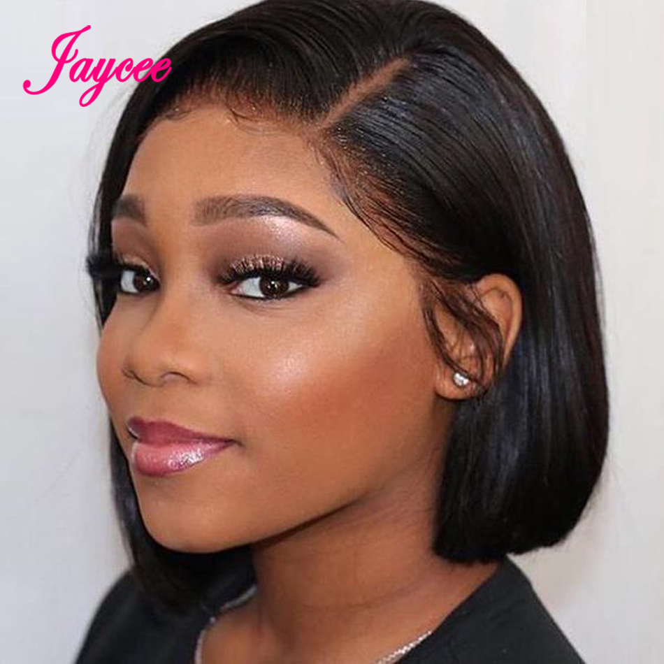 Jaycee Hair Beauty Brazilian Straight Lace Closure Wigs Pre Plucked Hairline With Baby Hair 100% Human Hair 4x4 Closure Wig