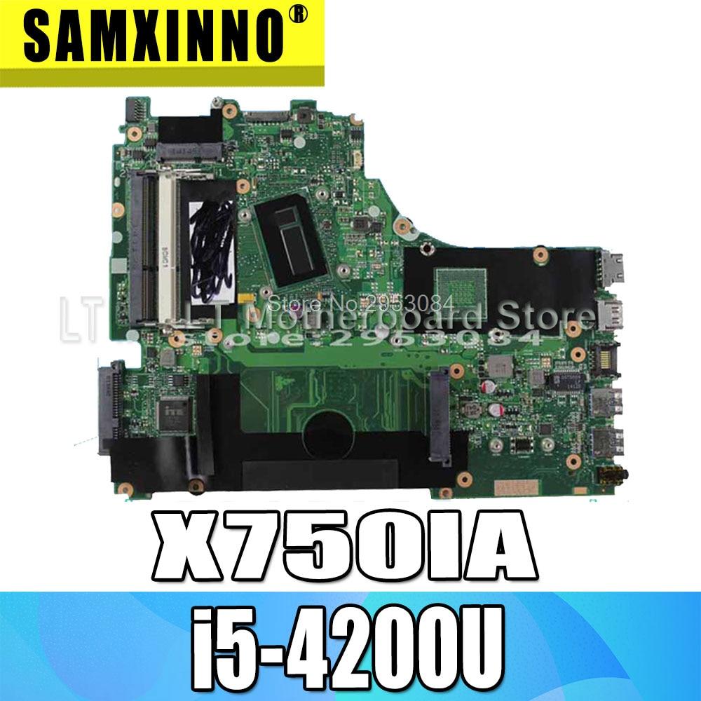 For ASUS X750LB X750LN X750lA X750l Laptop Motherboard I5-4200U 1600 MHz 60NB05N0-MB1120 Mainboard FIT 100% Fully Test S-4