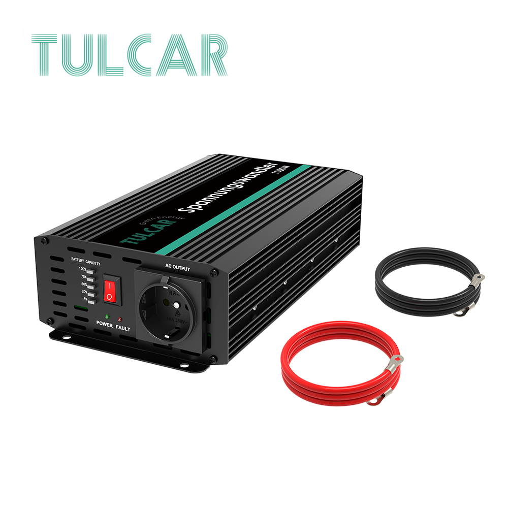 TULCAR power inverter 1000W 2000W modified sine wave DC 12V AC 220V 230V 240V with LCD display