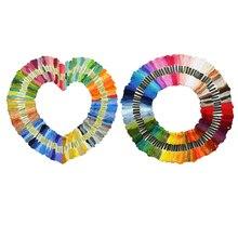 50/100Pcs Cross Stitch Handmade Thread DIY Embroidery Sewing Skeins Yarn Floss Kit