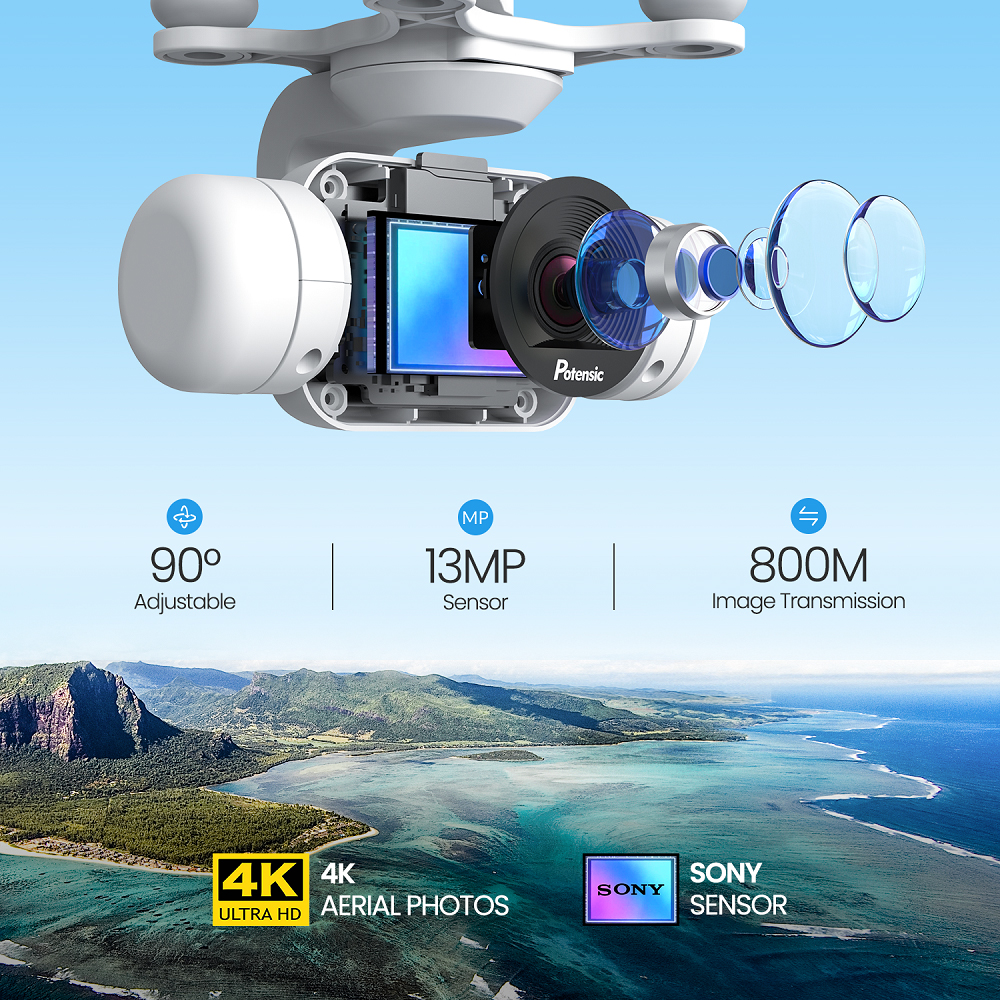 Potensic Dreamer Drone With 4K Sony Camera WiFi FPV GPS RC Quadcopter