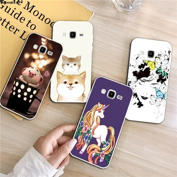 Flamingo 2 Silicon Soft TPU Case Cover For Samsung Galaxy Core Grand Prime Neo Plus 2 G360 G530 I9060 G7106 Note 3 4 5 8 9 image