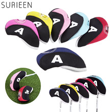 10 Pcs Golf Iron Head Covers Set Iron Putter Protective Golf Club Iron Head Protector Golf Club Cover Golf Accessories 6 Colors golf club putter head cover case yellow black 10 pack page 2