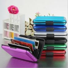 Case Wallet-Holder Credit-Card Metal Business-Id Aluminum Waterproof Mini Pocket