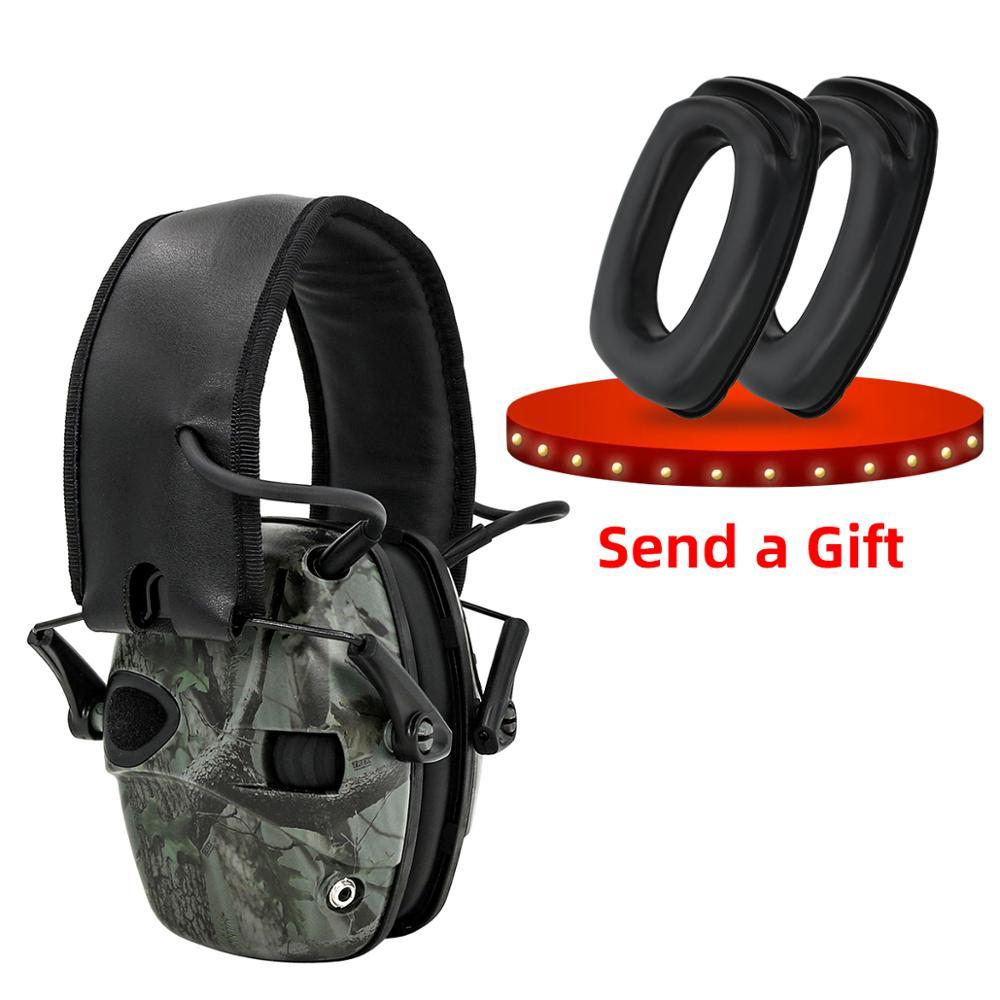 Электронные Наушники для стрельбы, тактические уличные спортивные наушники с усилителем звука и защитой слуха, тактические головки