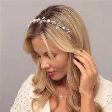 Retro Black Velvet Bee Hairband Headband for Women Girls Wide Hair Band Head Hoop on Female Flower Pearl Headwear Accessories