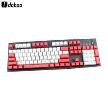 DoubleShot วัสดุ Backlit Sa Keycaps ชุด PBT สีแดงสีฟ้าสีขาวโปร่งแสงตัวอักษรสำหรับคีย์บอร์ด ASNI GH 104 60 87
