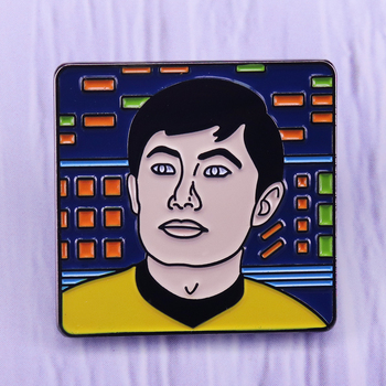 Captain Sulu collar pin-May the Great Bird of the galaxy bless your planet! image