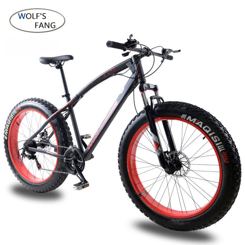 wolf's fang Bike Bicycle Mountain bike Road bikes Fat bike mtb Snow bicycle 7/21 speed <font><b>26</b></font> inch full mens <font><b>bmx</b></font> Bikes free shipping image