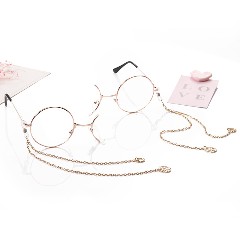 Lolita Retro Half-frame Gear Monocle Student Secondary Element Personalized Glasses