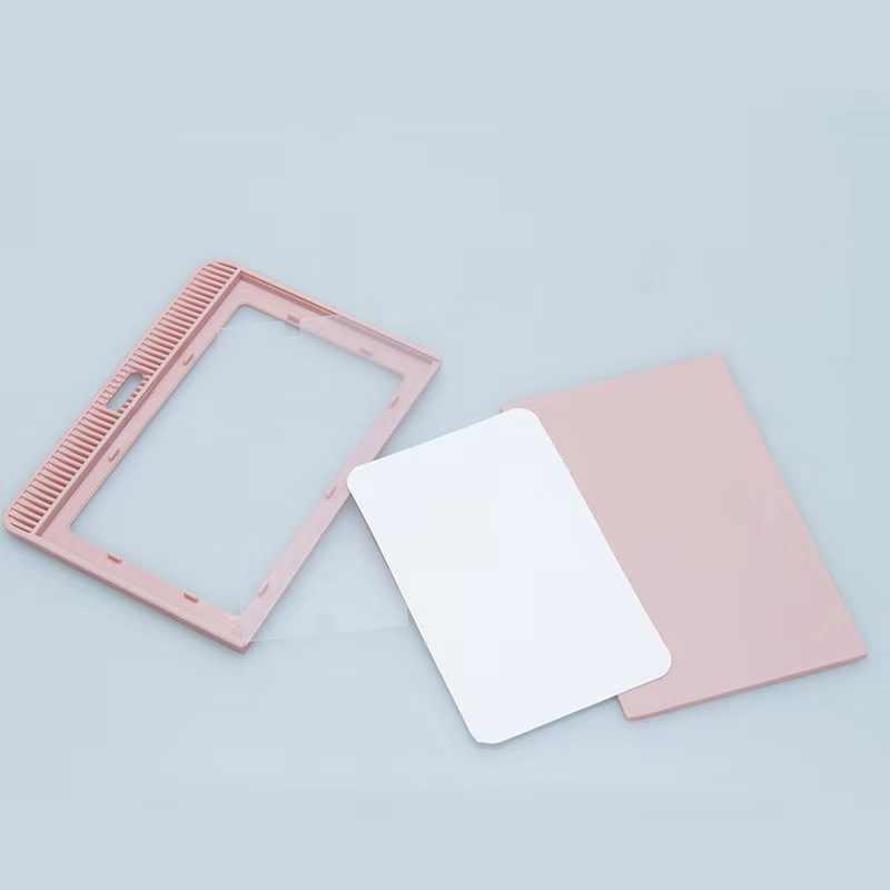 Kreatif 4 Warna Gadis Lencana Pemegang Kartu Perawat Dokter Pameran Kunci Plastik ID Nama Pemegang Lencana Sekolah Office Supplies