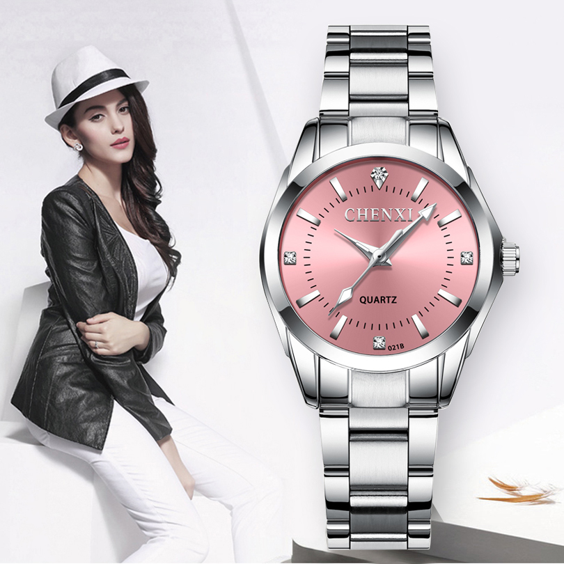 CHENXI Quartz Movement High Quality Classic 30mm Women Stainless Steel Band Waterproof Ladies Watch New Year Gift Dropshipping