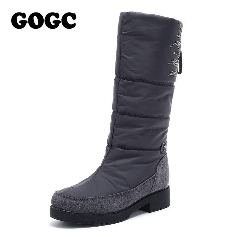 GOGC Boots Women Mid Calf Boots Winter Boots Women Snow Boots Shoes Woman Shoes For Winter Winter Boots Women Waterproof G9939