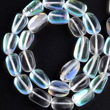Natural Smooth White Irregular Austrian Crystal Beads For Jewelry Making 9*13mm Charm Spacer DIY Necklace Bracelet 15