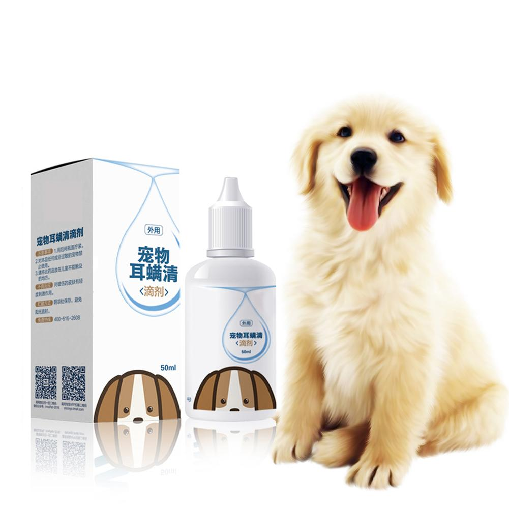 Pet Cat 50ML Ear Drops Dog Ear Inflammation Anti-dog Ear Mite Medicine Wash Ear Water Ear Drops Cleaning Supplies Pet Product