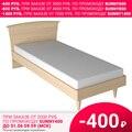 Кровать Милан 105 (03 Дуб молочный, ЛДСП с накладками МДФ, 03 Дуб молочный, 900х2000 мм) Стайлинг