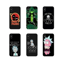 For Samsung Galaxy S3 S4 S5 Mini S6 S7 Edge S8 S9 S10 Lite Plus Note 4 5 8 9 Accessories Phone Cases Covers Rick Morty Elegant