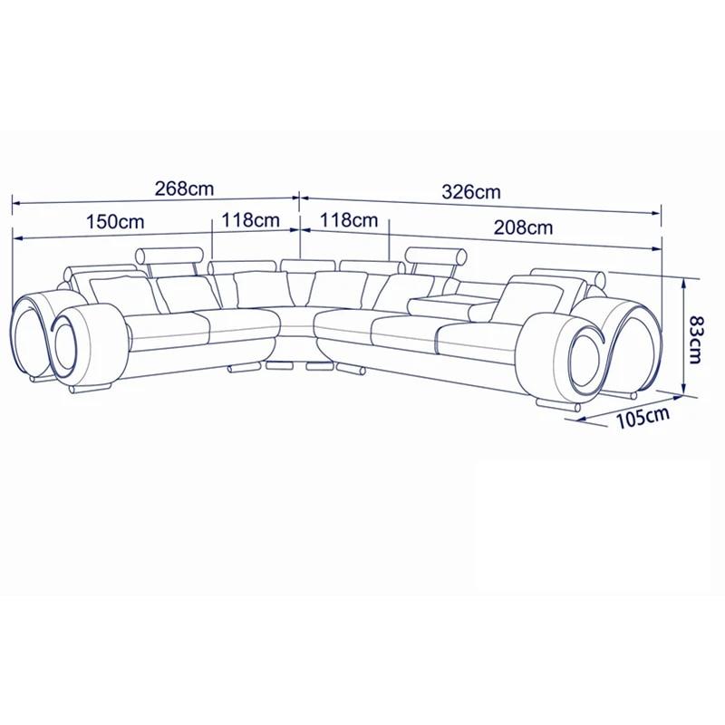 nouveau design meilleur prix meubles modernes salon canape ensemble haut grain cuir canape d angle