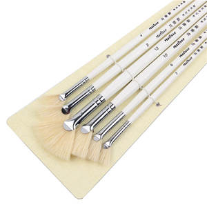 Oil-Painting-Brush Art-Supplies Bristles-Hair Sector Artist Drawing Pig-'s 6pcs/Set