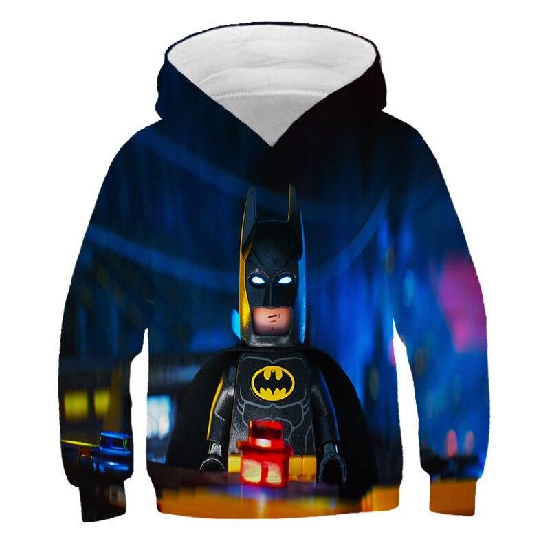 4-14 Years Baby Girl Hoodie Boys Sweatshirt The streets of harajuku Ninjagoes Hoodies Legoes Clothes Cartoon Children Jumpers 6
