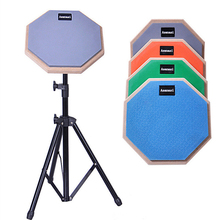 8 Inch Fashion Practice Training Rubber Wooden Dumb Drum Pad Instruments Accessories
