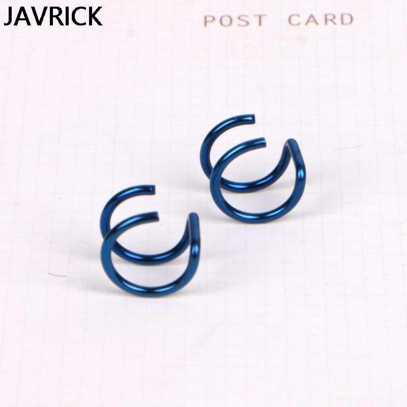Di titanio 2 Anelli Dell'orecchio Del Polsino Pinze Su Helix Cartilagine Anello No Piercing Monili per il corpo e Piercing