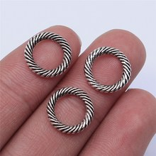 Wysiwyg 20 pçs 13x13mm antigo prata cor círculo encantos pingente para fazer jóias diy jóias descobertas