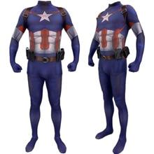Captain America Steve Rogers Cosplay Costume Zentai Superhero Bodysuit Suit Jumpsuits Sling Belt Accessories